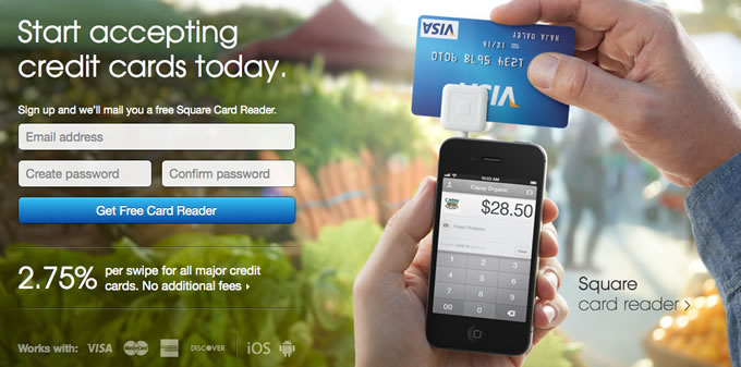 Start accepting credit cards today